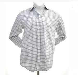 Pronto Uomo Contrast Cuff L/S Button Down Shirt M